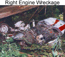 Right Engine Wreckage - If you have posttraumatic stress due to a plane crash, contact us in Bloomfield Hills, Michigan, and receive information for legal advice and support groups.